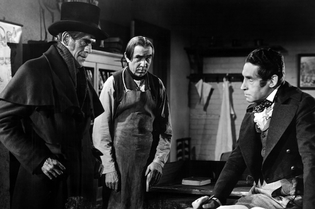 THE BODY SNATCHER, Boris Karloff, Bela Lugosi, Henry Daniell, 1945