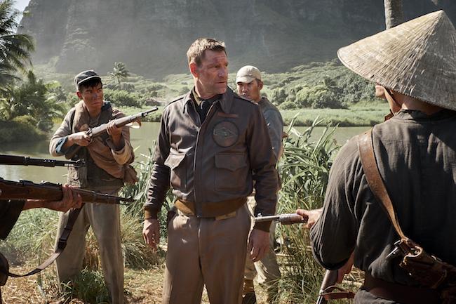 Aaron Eckhart stars as 'Lt. Commander Jimmy Doolittle' in MIDWAY.